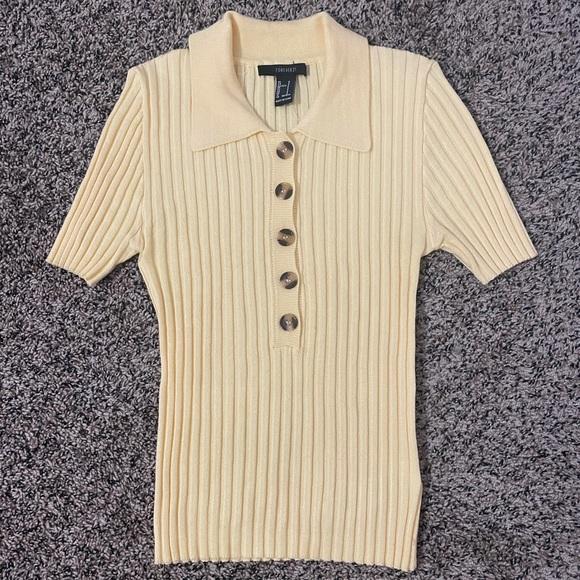F21 Yellow Polo Shirt